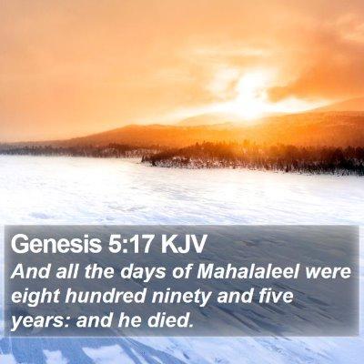 Genesis 5:17 KJV Bible Verse Image