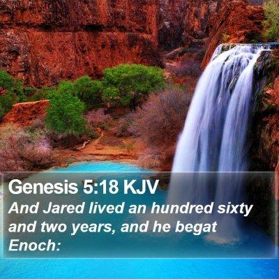 Genesis 5:18 KJV Bible Verse Image