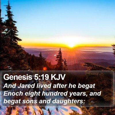 Genesis 5:19 KJV Bible Verse Image