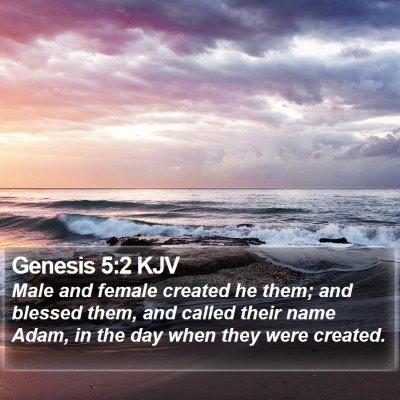 Genesis 5:2 KJV Bible Verse Image
