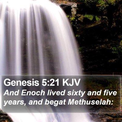 Genesis 5:21 KJV Bible Verse Image