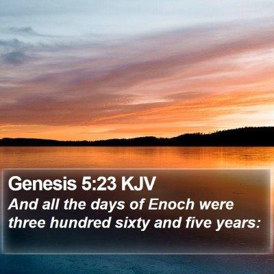 Genesis 5:23 KJV Bible Verse Image
