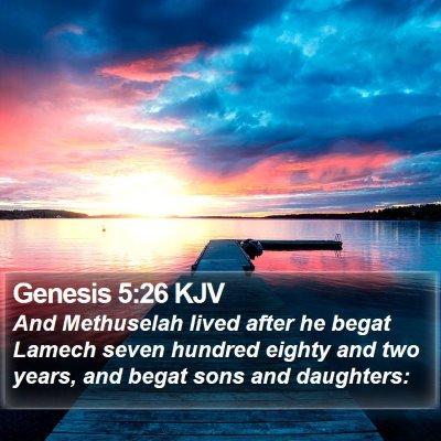 Genesis 5:26 KJV Bible Verse Image