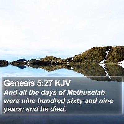 Genesis 5:27 KJV Bible Verse Image