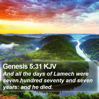 Genesis 5:31 KJV Bible Verse Image