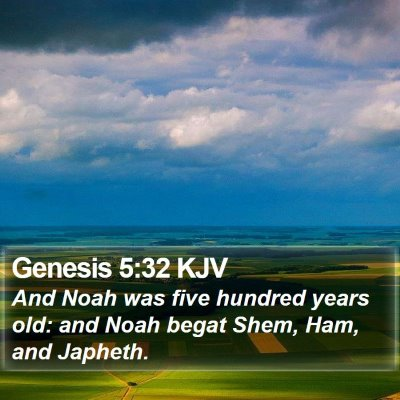 Genesis 5:32 KJV Bible Verse Image