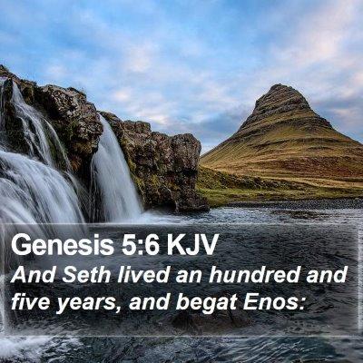 Genesis 5:6 KJV Bible Verse Image