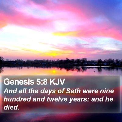 Genesis 5:8 KJV Bible Verse Image