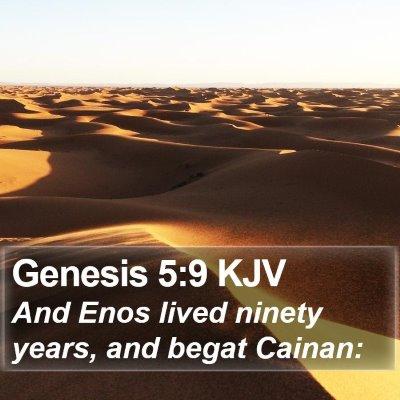 Genesis 5:9 KJV Bible Verse Image