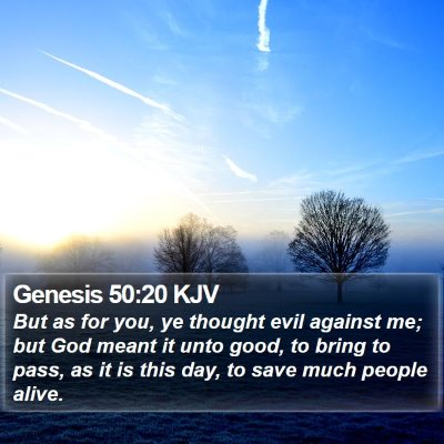Genesis 50:20 KJV Bible Verse Image