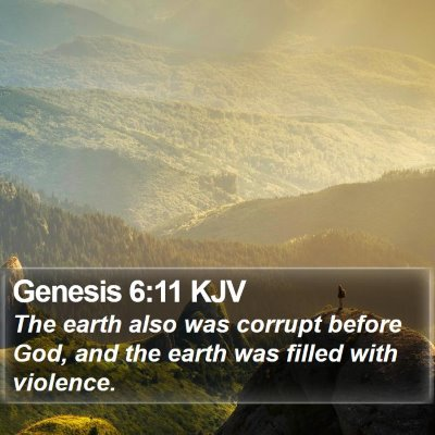 Genesis 6:11 KJV Bible Verse Image