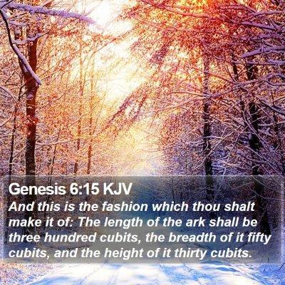 Genesis 6:15 KJV Bible Verse Image