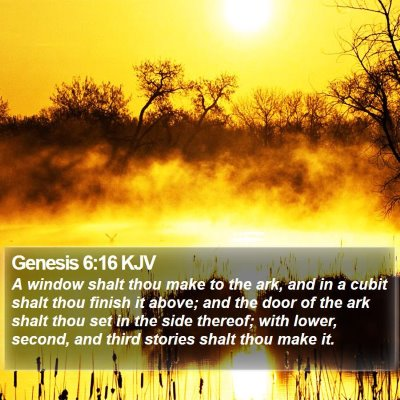 Genesis 6:16 KJV Bible Verse Image