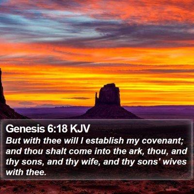 Genesis 6:18 KJV Bible Verse Image