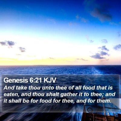 Genesis 6:21 KJV Bible Verse Image