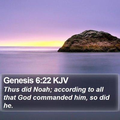 Genesis 6:22 KJV Bible Verse Image
