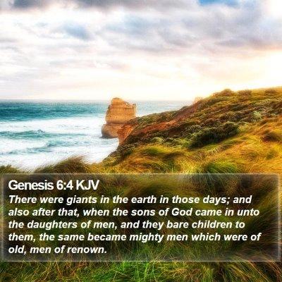 Genesis 6:4 KJV Bible Verse Image