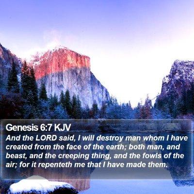 Genesis 6:7 KJV Bible Verse Image
