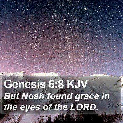 Genesis 6:8 KJV Bible Verse Image