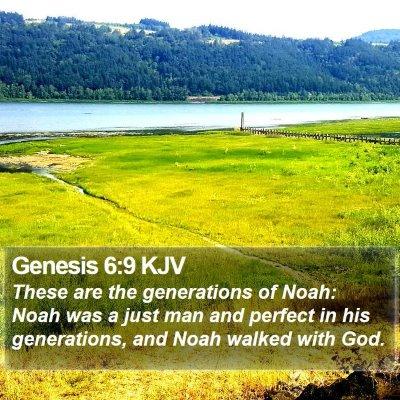 Genesis 6:9 KJV Bible Verse Image