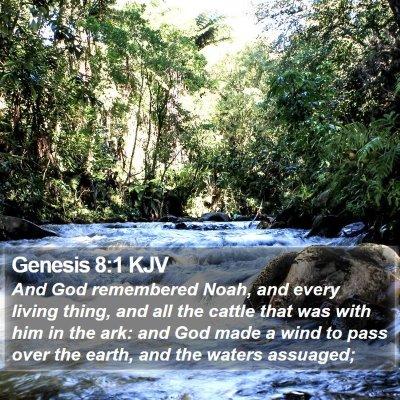 Genesis 8:1 KJV Bible Verse Image