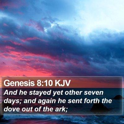 Genesis 8:10 KJV Bible Verse Image