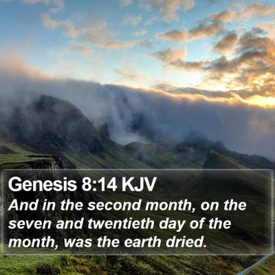 Genesis 8:14 KJV Bible Verse Image
