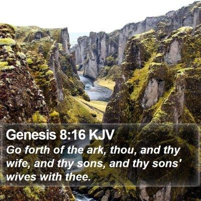 Genesis 8:16 KJV Bible Verse Image