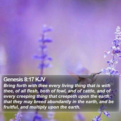 Genesis 8:17 KJV Bible Verse Image