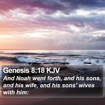 Genesis 8:18 KJV Bible Verse Image