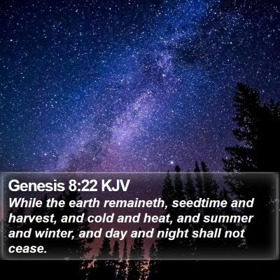 Genesis 8:22 KJV Bible Verse Image