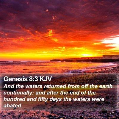 Genesis 8:3 KJV Bible Verse Image