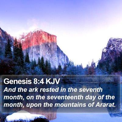 Genesis 8:4 KJV Bible Verse Image