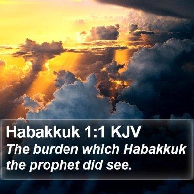 Habakkuk 1:1 KJV Bible Verse Image