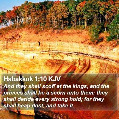 Habakkuk 1:10 KJV Bible Verse Image