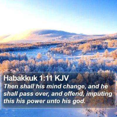 Habakkuk 1:11 KJV Bible Verse Image
