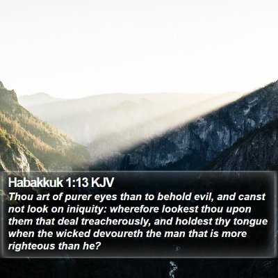 Habakkuk 1:13 KJV Bible Verse Image