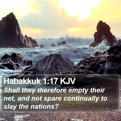 Habakkuk 1:17 KJV Bible Verse Image