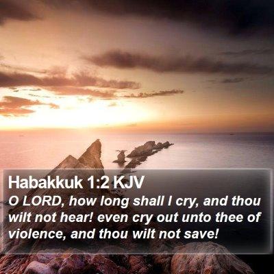 Habakkuk 1:2 KJV Bible Verse Image
