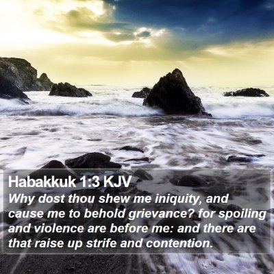 Habakkuk 1:3 KJV Bible Verse Image