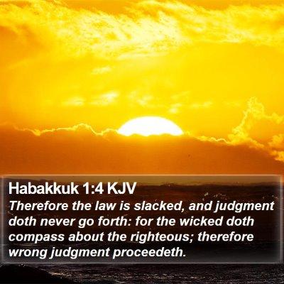 Habakkuk 1:4 KJV Bible Verse Image