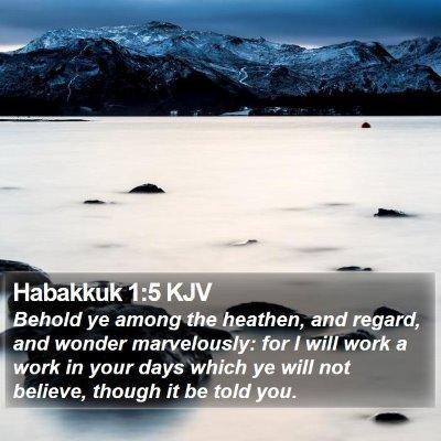Habakkuk 1:5 KJV Bible Verse Image