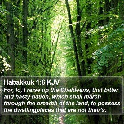 Habakkuk 1:6 KJV Bible Verse Image