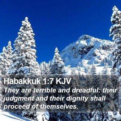 Habakkuk 1:7 KJV Bible Verse Image