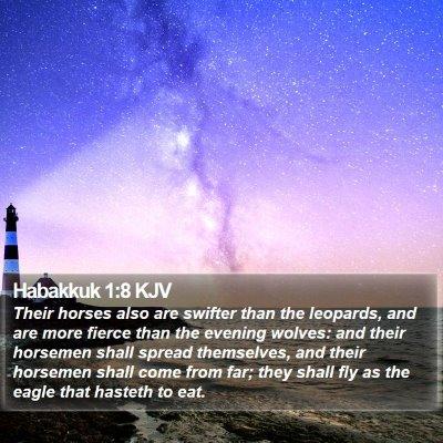 Habakkuk 1:8 KJV Bible Verse Image