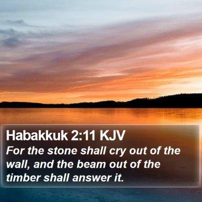 Habakkuk 2:11 KJV Bible Verse Image