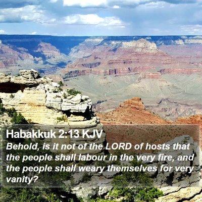 Habakkuk 2:13 KJV Bible Verse Image
