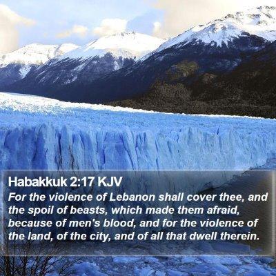 Habakkuk 2:17 KJV Bible Verse Image