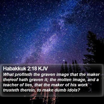 Habakkuk 2:18 KJV Bible Verse Image