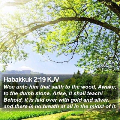 Habakkuk 2:19 KJV Bible Verse Image